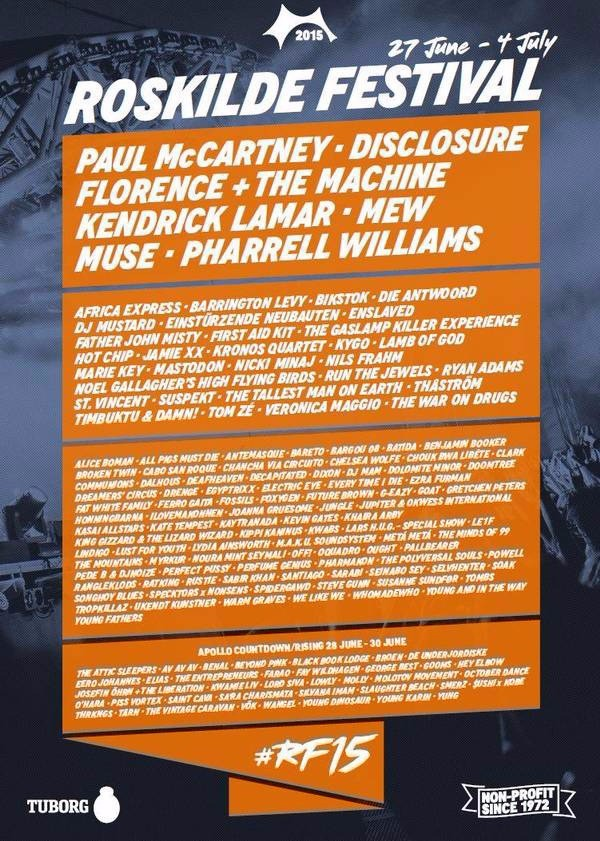 Roskilde Festival 2015 affiche