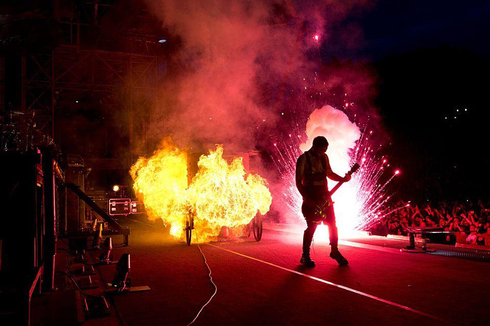 Rammstein Live vuurwerk