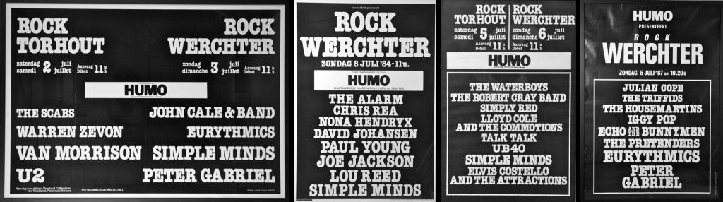 Rock Werchter jaren 80 posters