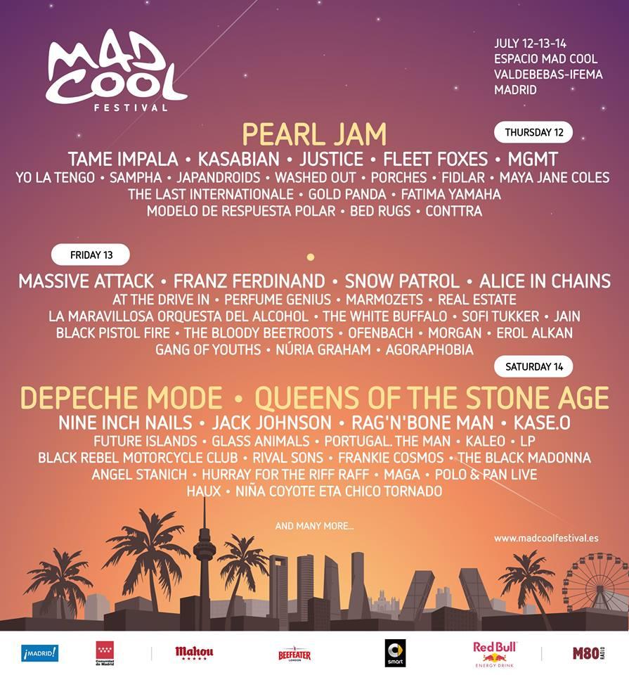 Tame Impala En Meer Naar Mad Cool Festival 2018