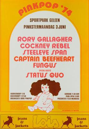Pinkpop affiche 1974