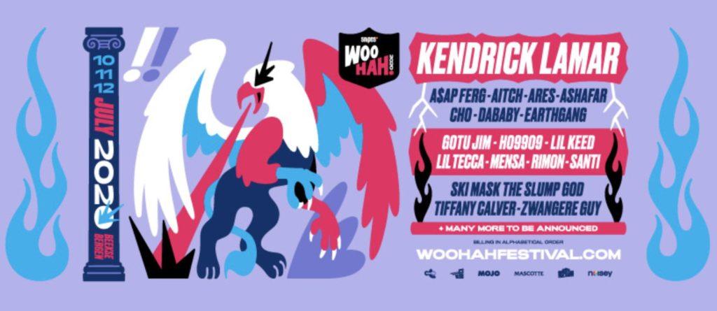 WOO HAH! 2020 eerste poster