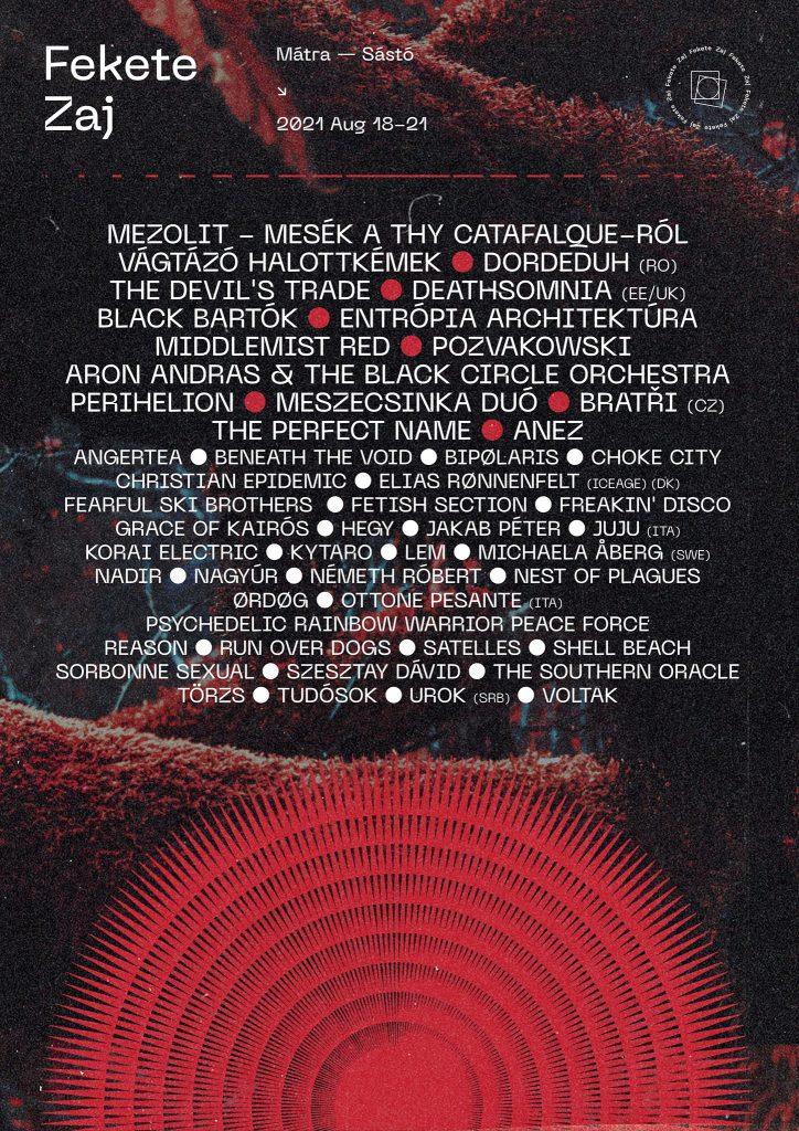 Fekete Zaj 2021 lineup