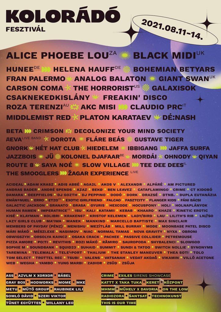 Kolorádó Fesztivál 2021 lineup
