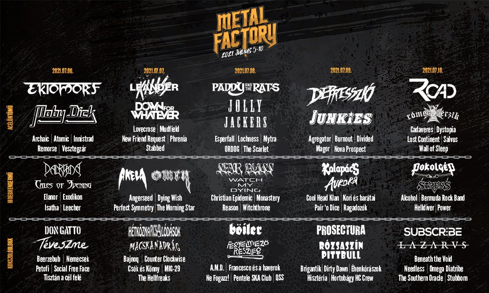 Metal Factory 2021 lineup